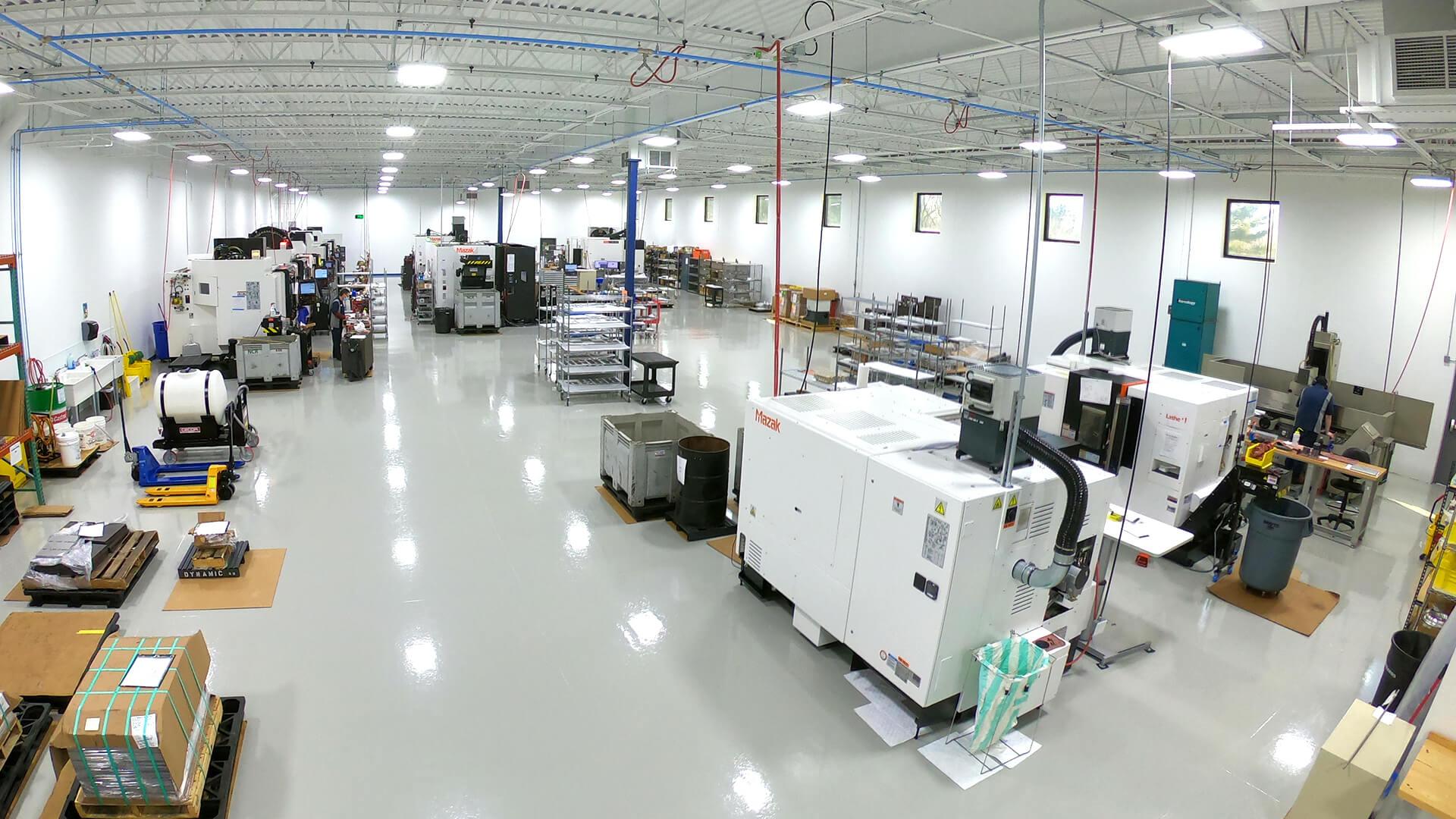 Dynamic Precision Manufacturing shop floor