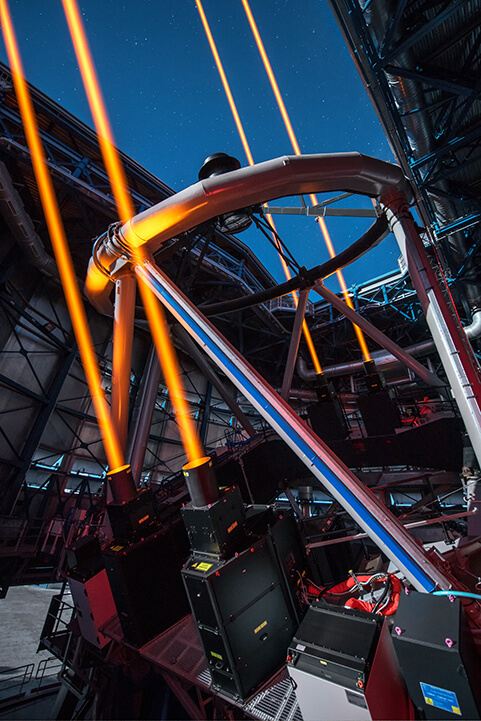 laser guide star system at ESO's Paranal Observatory