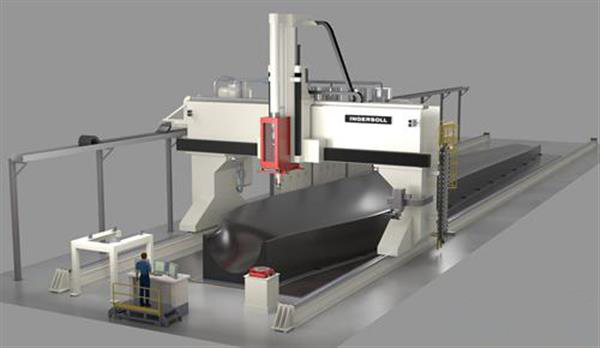 Wide and High Additive Manufacturing (WHAM) composite 3D printing machine