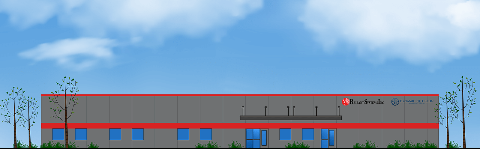 Illustration rendering of new building for Reliant and Dynamic