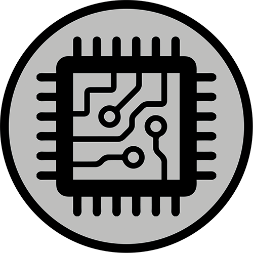 Icon that represents semiconductor inspection